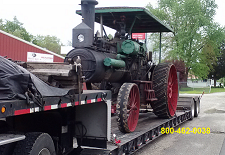 ship a steam tractor